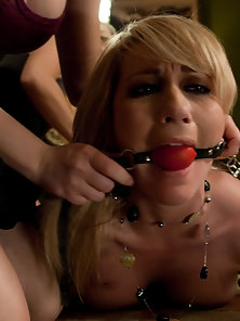 Missy Woods Having Double Penetration by Strapon Dildo with Her Friends in Threesome