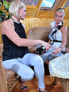 Blonde Sexy Babes Susanna and Ninette Displays Hottest Lesbian Act