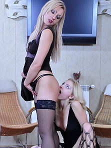 Blonde Busty Babes Judith and Betty Takes Huge Licking Activities