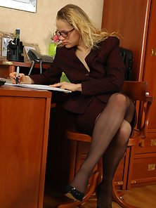 Office Babes Susanna and Gloria Displays Hottest Lesbian Sex