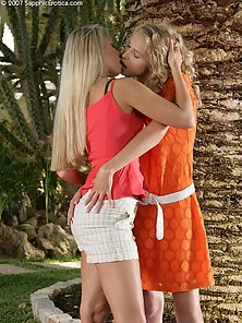 Stunning Slim Babes Judit and Celine D Fingering and Licking Outdoor Action