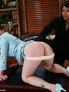Sucking and Fucking By Massive Strapon Dildo in Doggystyle by Busty Lesbians