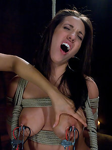 Busty Lesbians Kelly Divine and Her Friend Having Hard Dildo Fuck In Bondage
