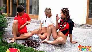 Three Naughty Sluts Playing Together in Naked