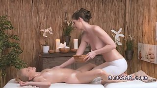 Oil Massage with Deep Kissing and Sucking
