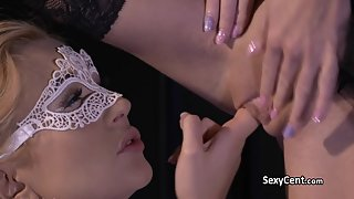 Lesbian Ballet Dancer Having Fun with Red Cunt