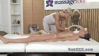 Sexy Lovely Titty Babe in Massage Room in Massage Room