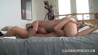 Claudia Valentine fucks her hot friend with toys
