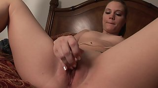 Naughty girl pussy rubbing and solo masturbation for orgasm