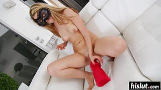Big sex toys for wet young pussy